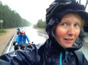 Route sous la pluie