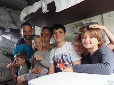 Photo souvenir avec Timour (et Grisha qui s'est invité sur la photo)